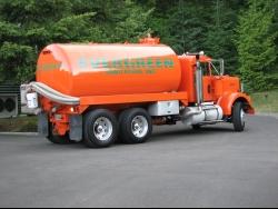 Orange Sanitation Truck